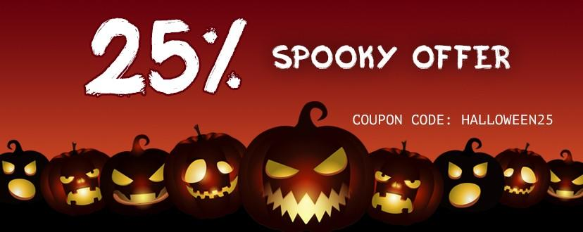 Enjoy 25% Mighty Discount On Spooky Halloween