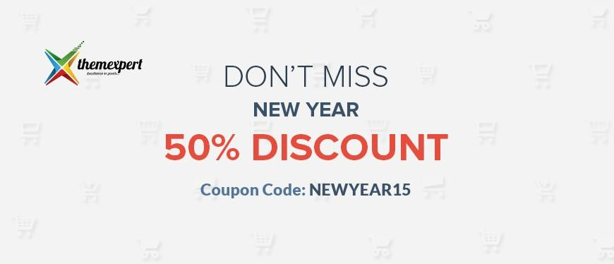 Enjoy Upto 50% Mighty New Year Deals First Time From ThemeXpert