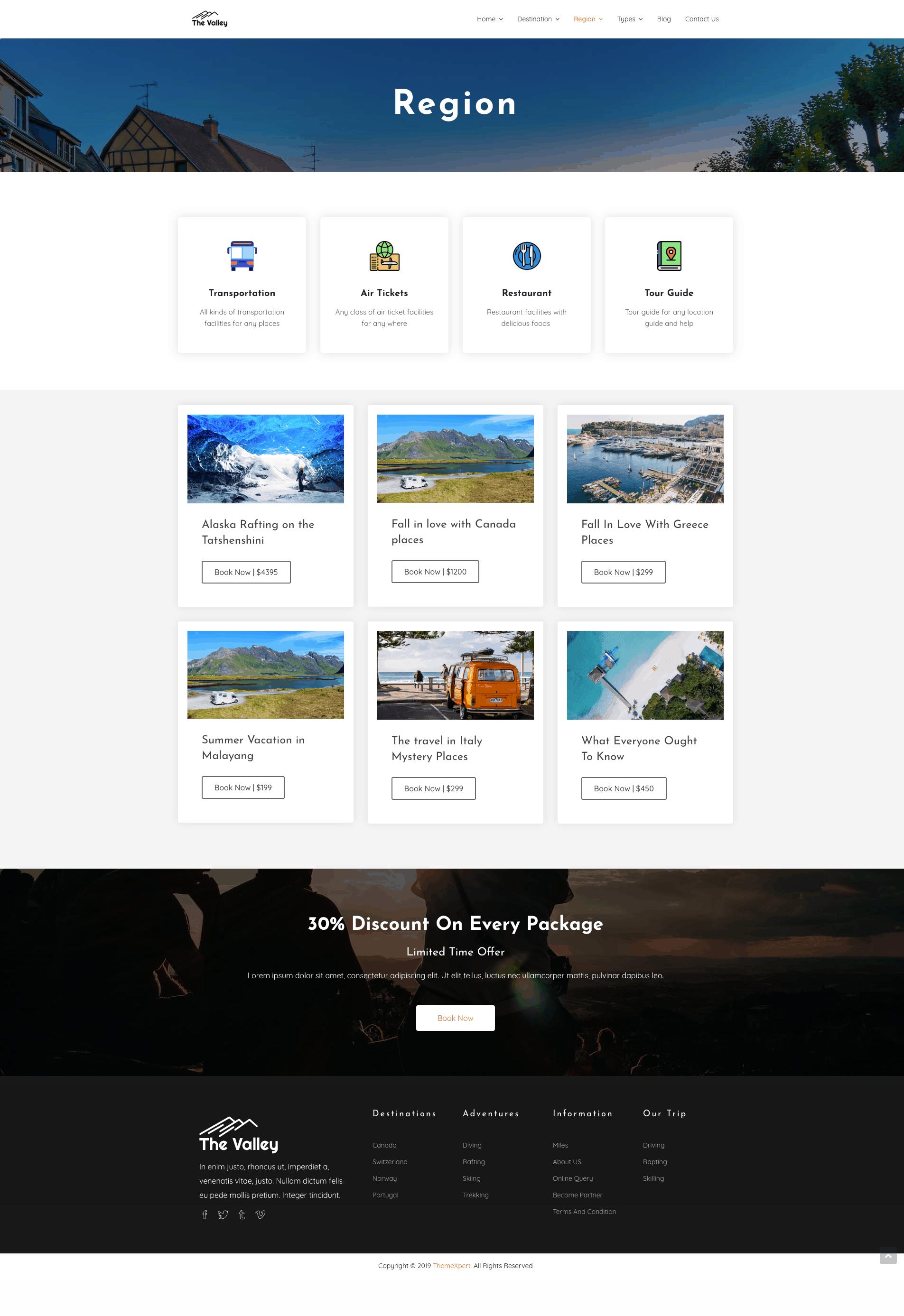Region Page