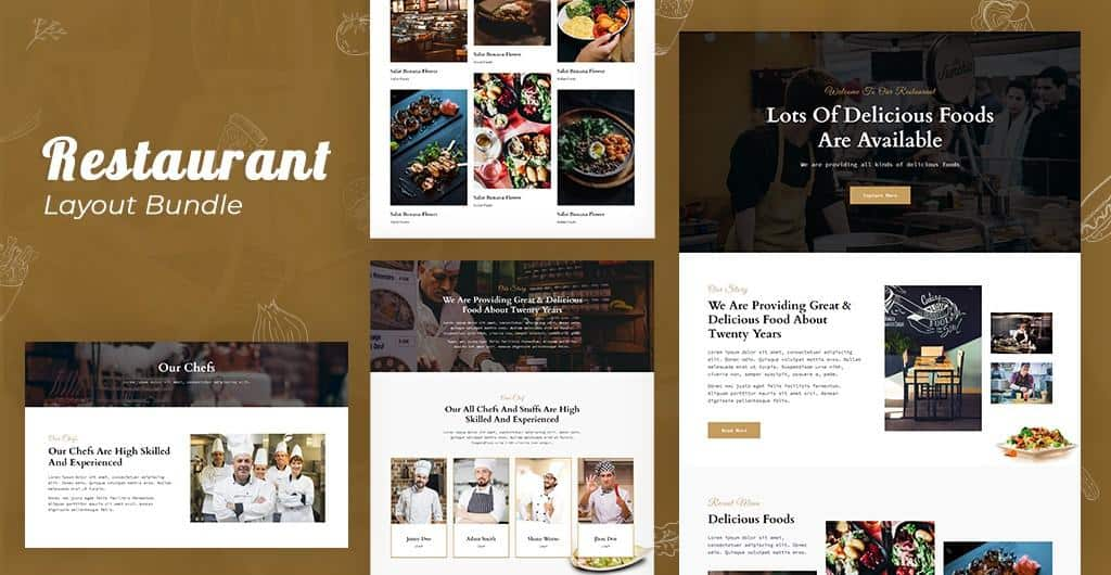 Introducing Restaurant Layout Pack for Quix Page Builder