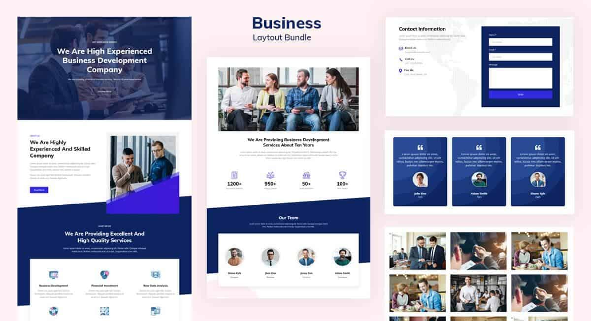 Introducing Business Layout Pack for Quix Page Builder