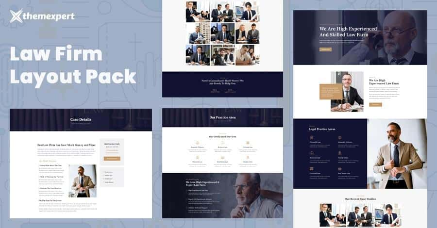 Introducing Law Firm Layout Pack For Quix Page Builder