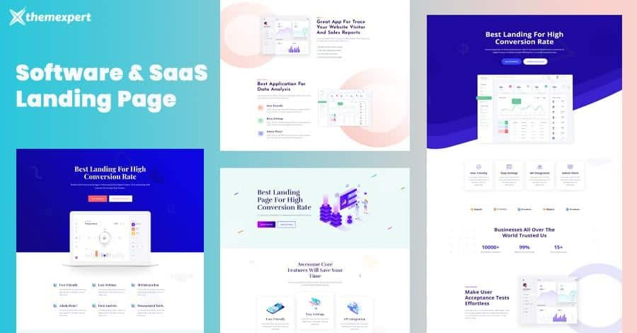 Introducing Software and SaaS Landing Page Kit for Quix Page Builder