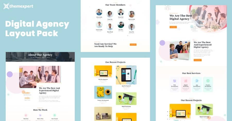 Introducing Digital Agency Layout Pack for Quix Page Builder