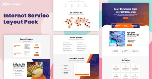 Introducing Internet Service Provider Layout Pack for Quix Page Builder