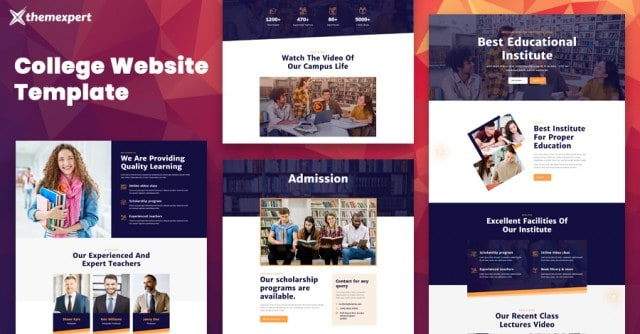 Introducing College Website Template for Quix Page Builder