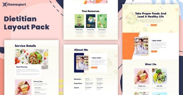 Introducing Best Dietitian Layout Pack for Quix Page Builder