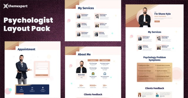 Introducing Best Psychologist Layout Pack for Quix Page Builder