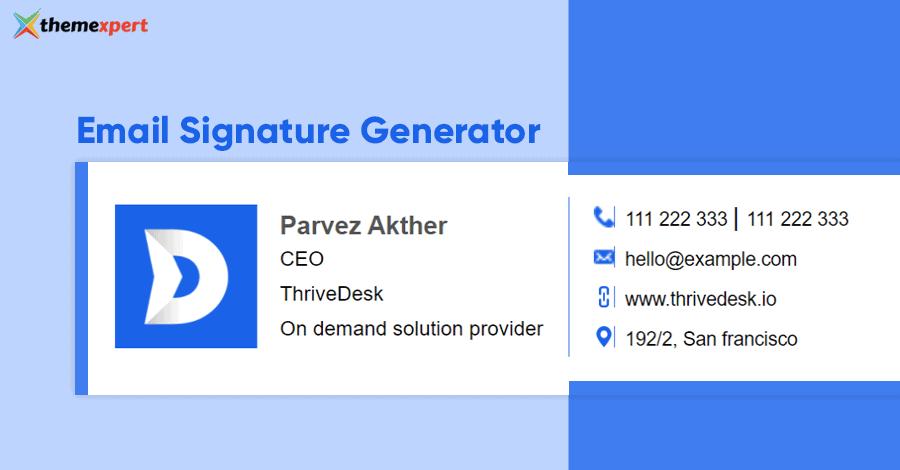 Email-Signature-Generator