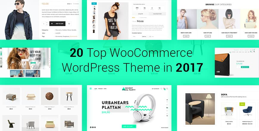 20 Top WooCommerce WordPress theme in 2017