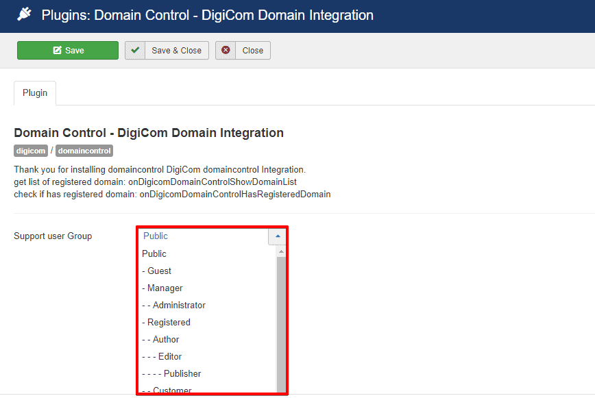 DigiCom-Domain Control