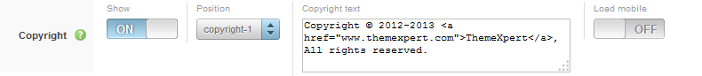 Expose copyright settings