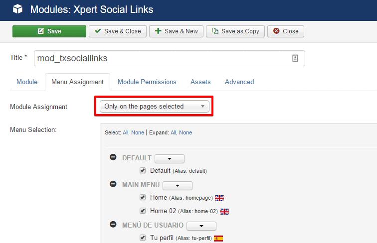 Xpert Social Links