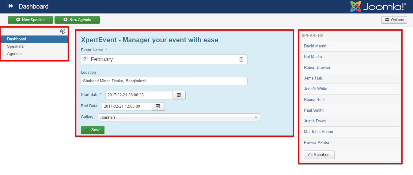 Expert Event Dashboard