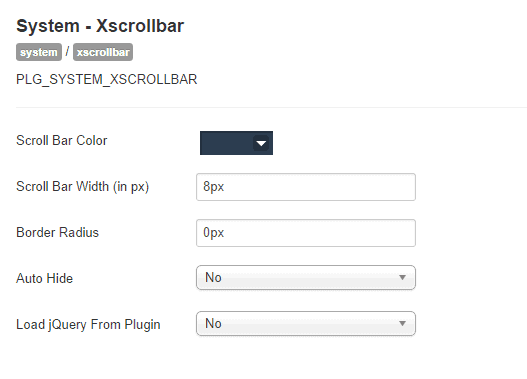 xscrollbar-settings