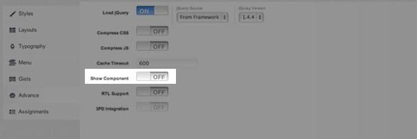 Component disable option