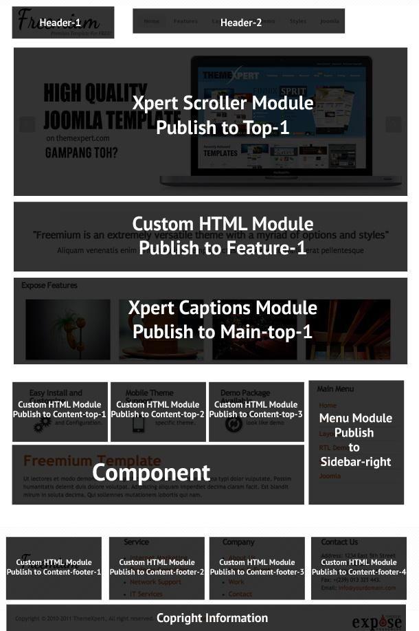 Freemium homepage