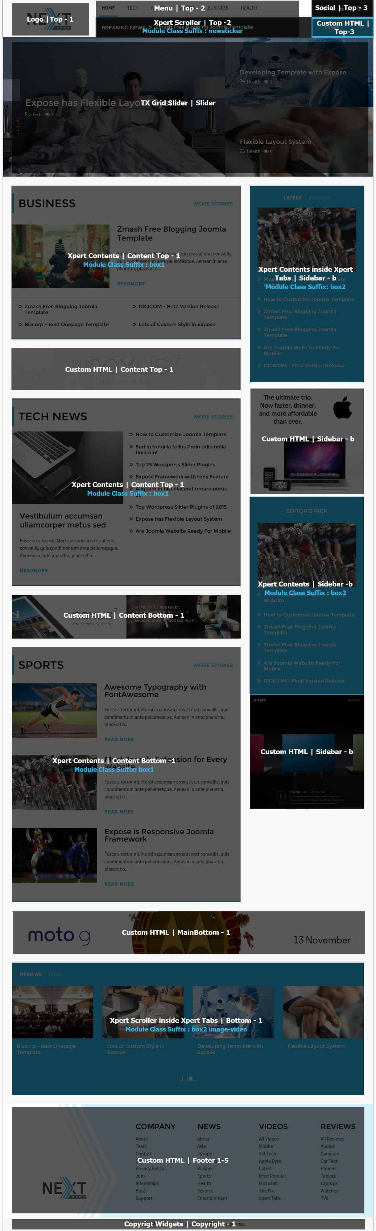 Next Homepage