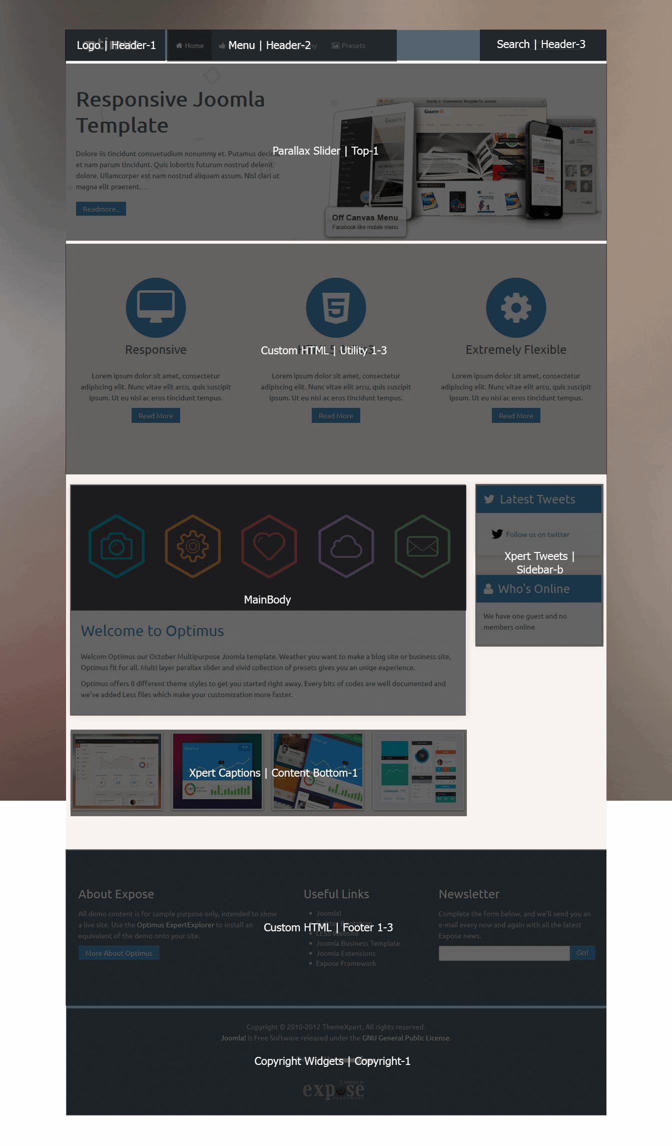 Optimus Homepage