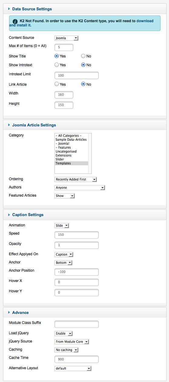 Xpert Captions settings