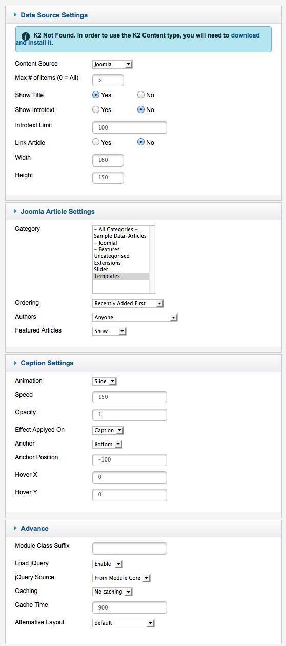 Xpert Captions settings
