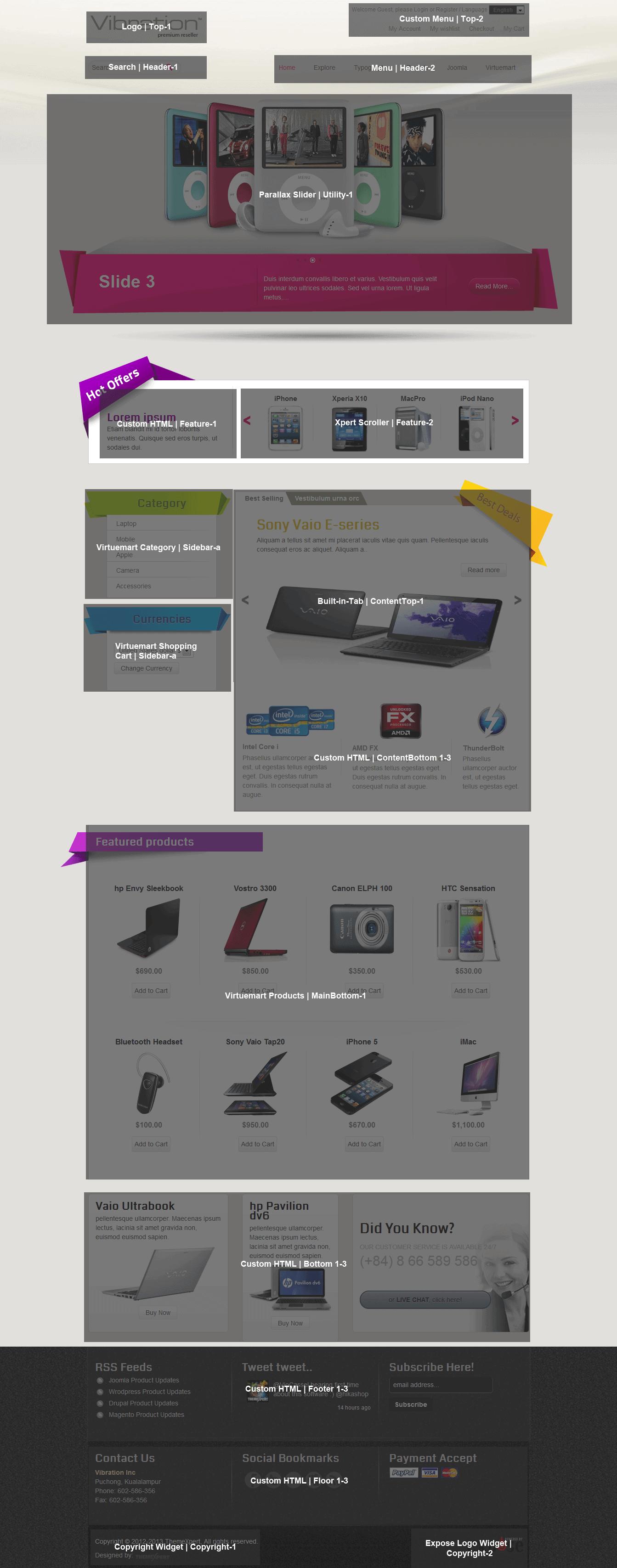 Vibraion homepage