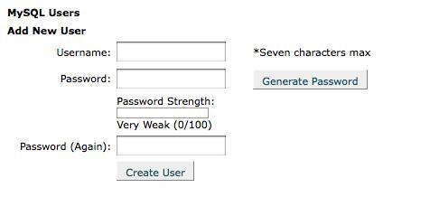 Database user Creation
