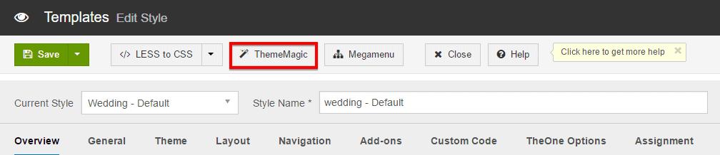 ThemeMagic Template Color Customization