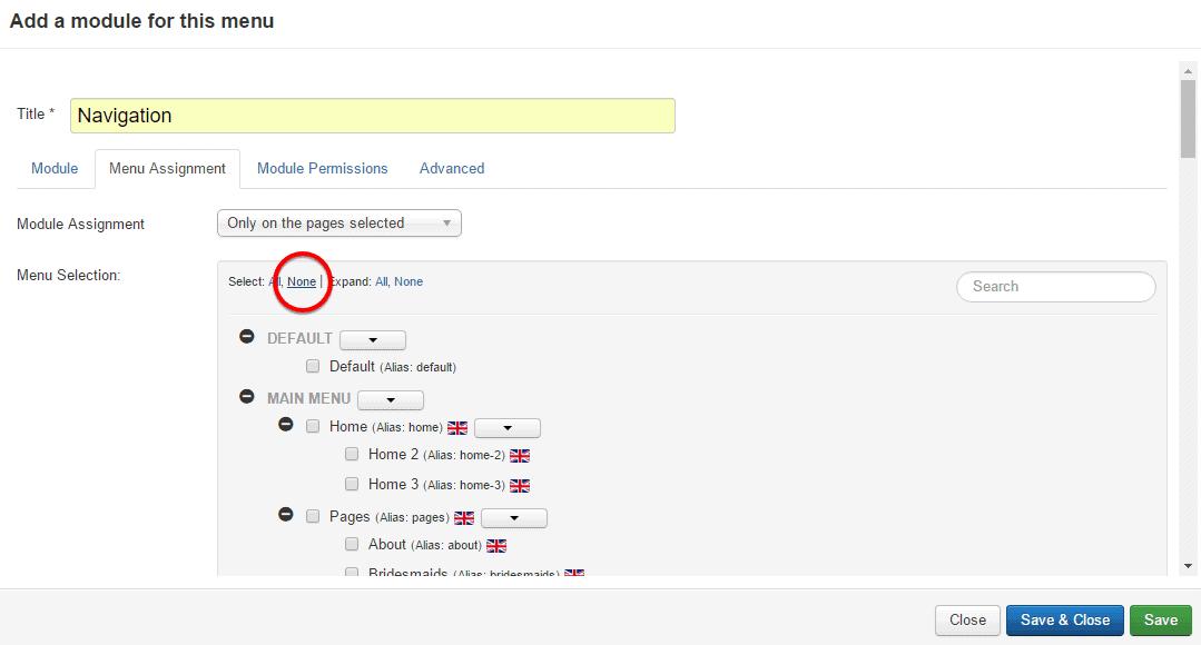 User Menu 10