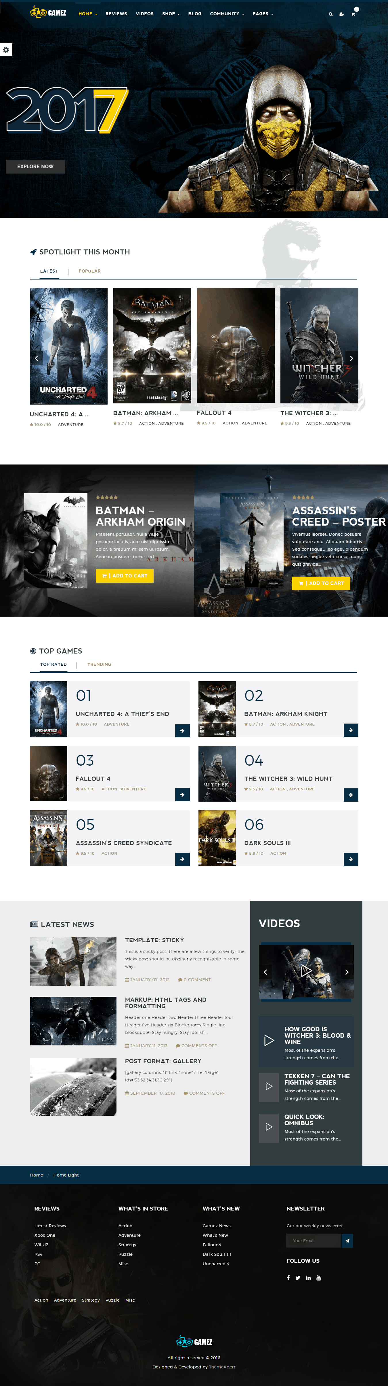 Gamez Homepage