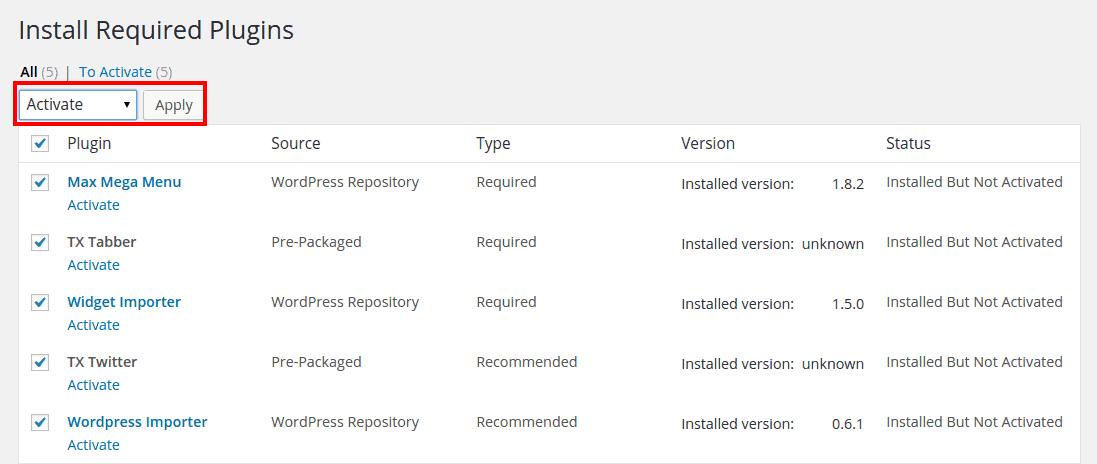 Plugins Installation